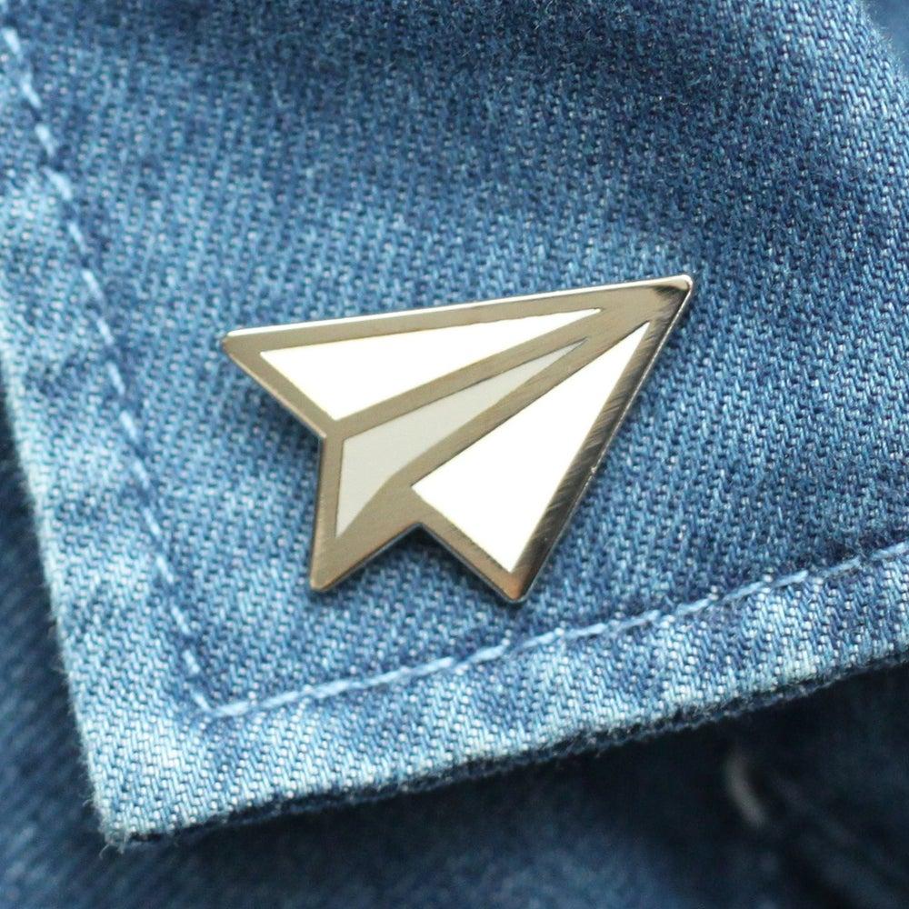 Image of Paper Plane Enamel Pin