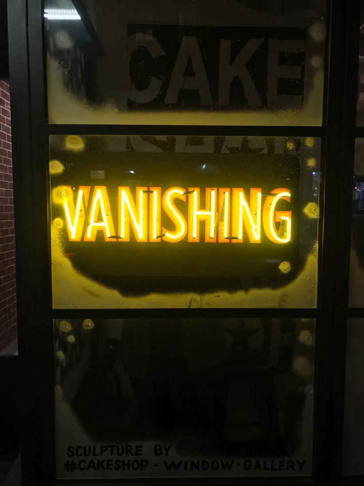 Image of VANISHING neon sign