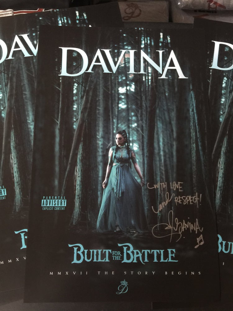"Image of Autographed ""Built For The Battle"" Promo Posters 11""x17"""