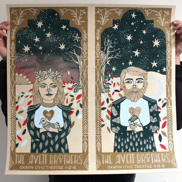 Image of The Avett Brothers Akron 2016 Birch Variant