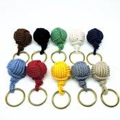 Image of Nautical Monkey Fist Knot Key Chain