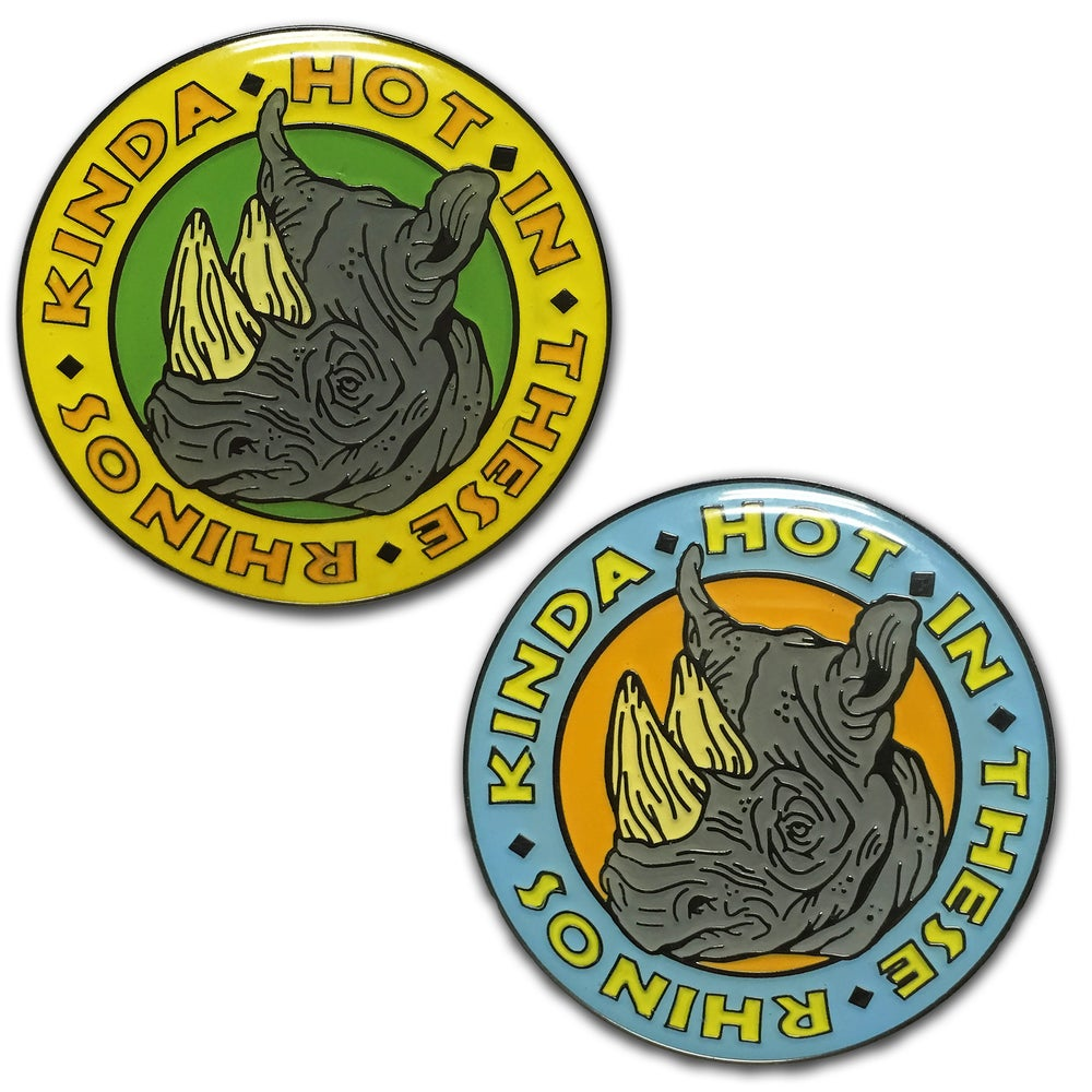 Image of Safari Rhino - Lapel Pin