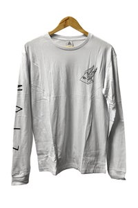 Image of PYRAMID SCHEME LONG SLEEVE TEE <br /> WHITE