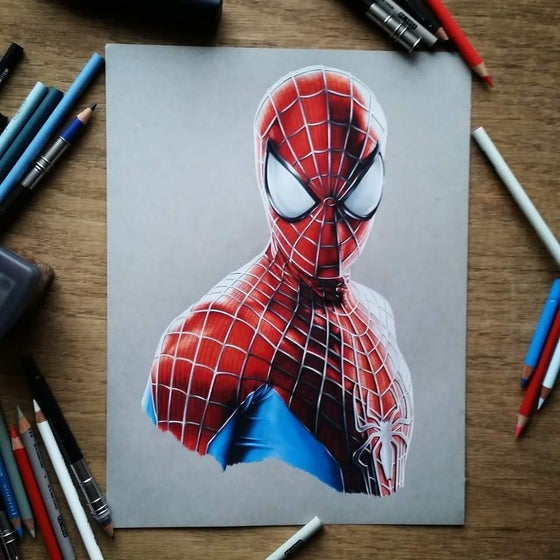 Image of Limited edition spiderman print (A4)