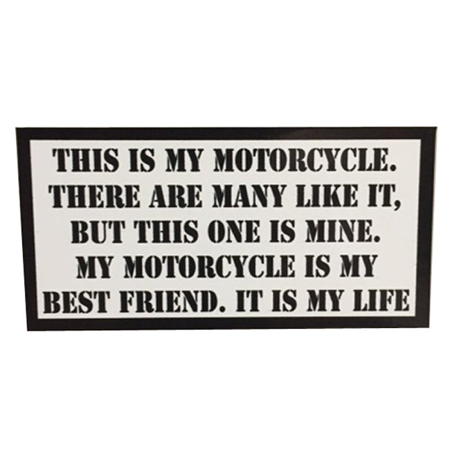 Image of This is my Motorcycle Rifleman's Creed Sticker by Seven 13 Productions