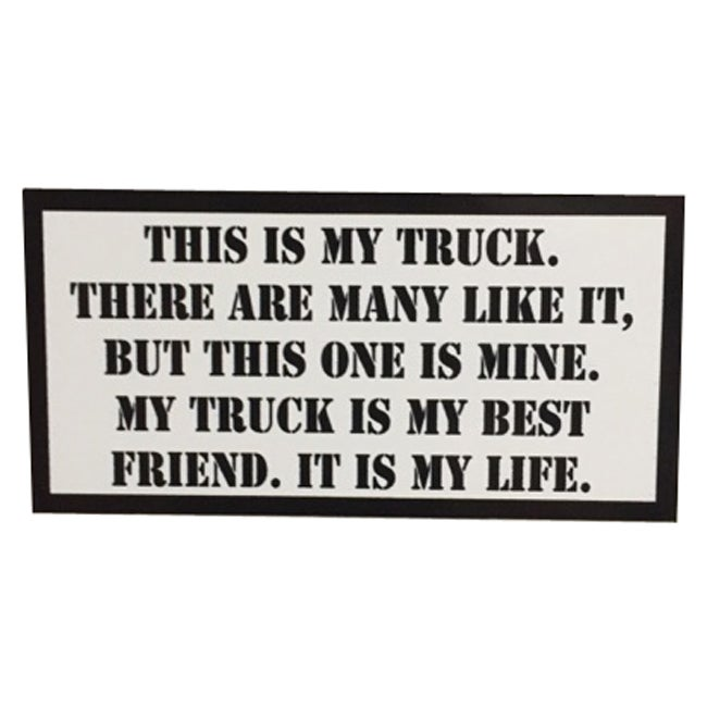 Image of This is my Truck Rifleman's Creed Sticker by Seven 13 Productions