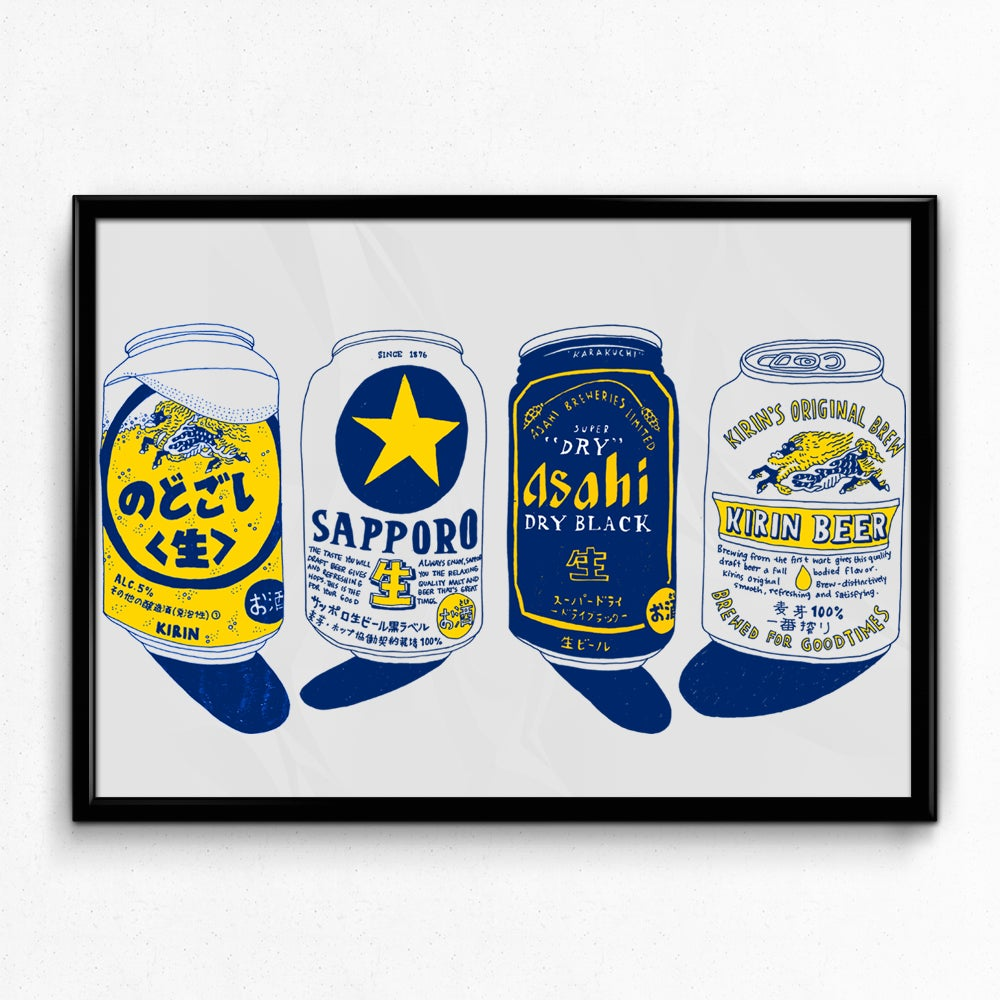 Image of JAPANESE BEER PRINT
