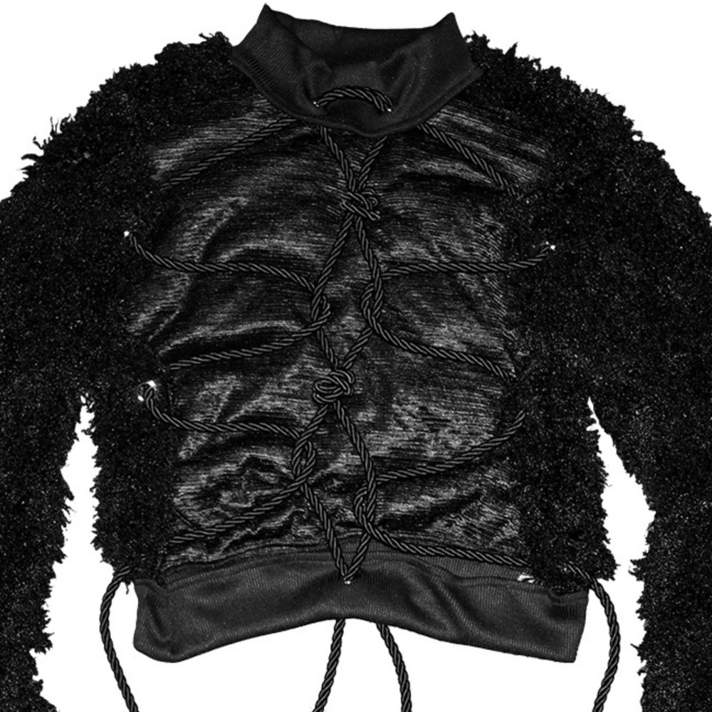Image of DVMVGE TOKYO X' Black Shibari 2way Cut-out Sweater