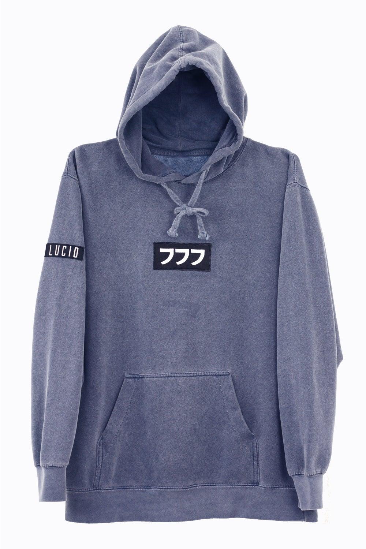 Image of lucid logo hoodie vol. II [indigo blue]