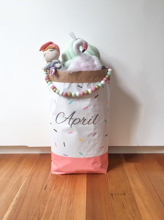 Image of Sprinkles monogram paper storage sack