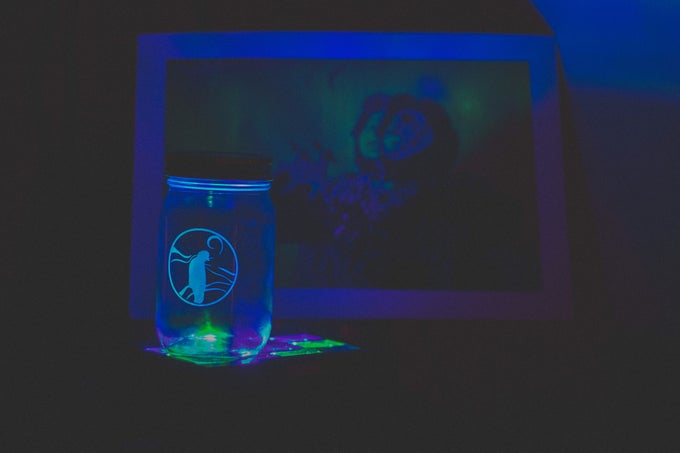Image of VP Logo Mason Jar + Usb with early copy of Village Party 3