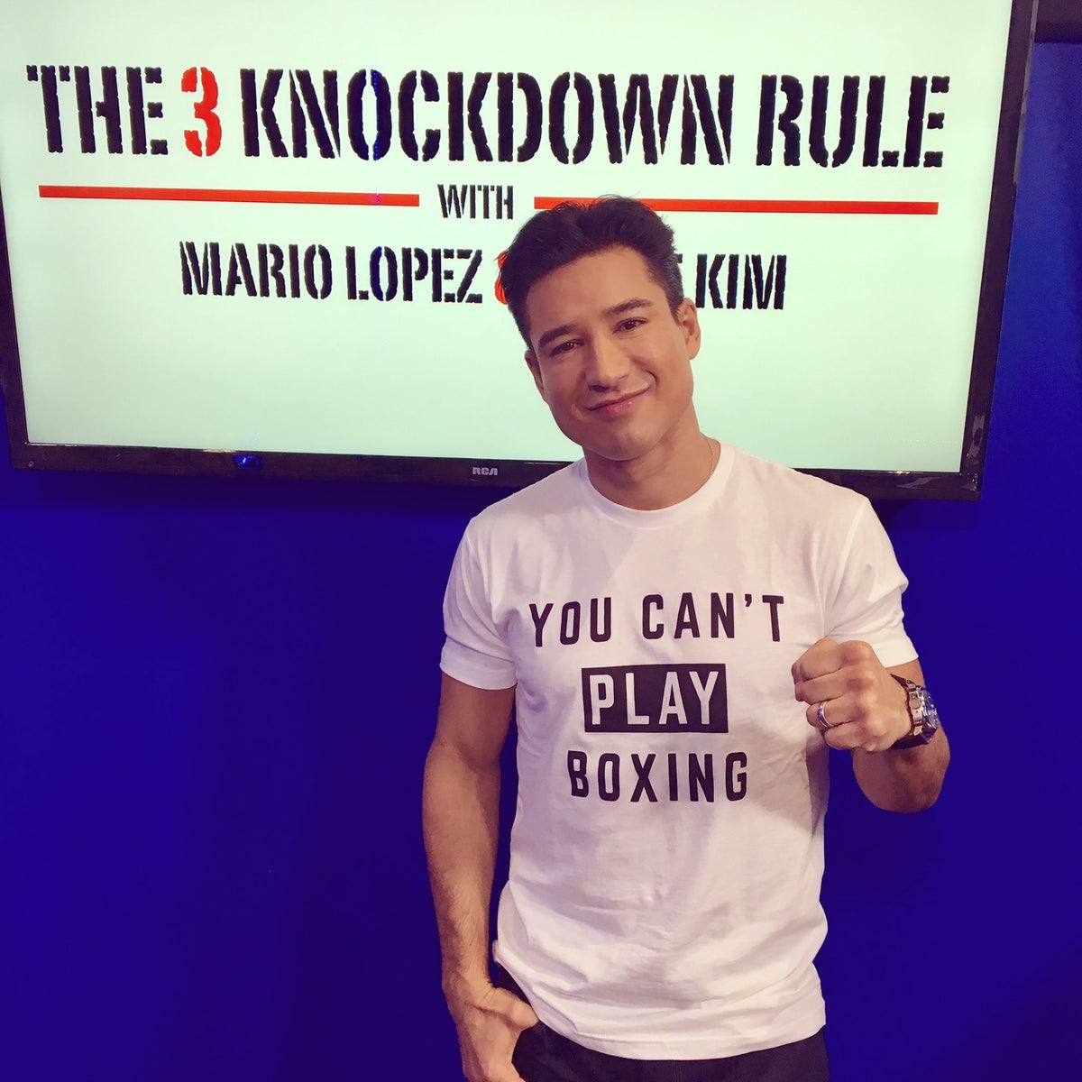 You Can T Play Boxing Shirt: Mens [RED] You Can't Play Boxing Tees