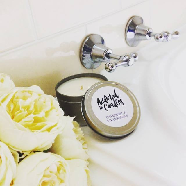 Image of Luxury Soy Candle Travel Tin 8oz - Various Scents