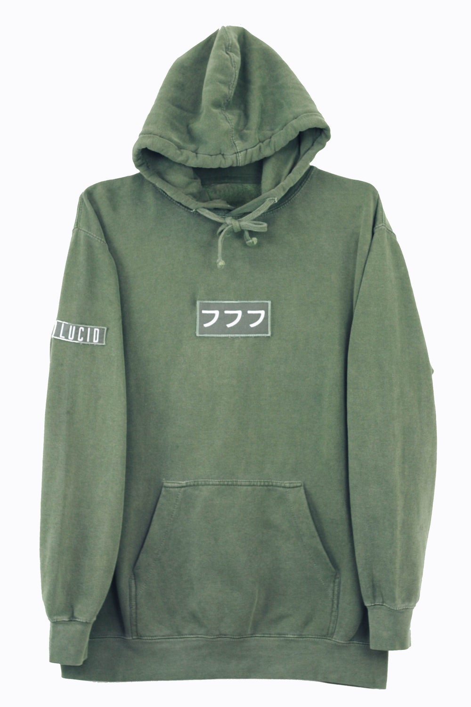 Image of lucid logo hoodie vol. II  [sage]