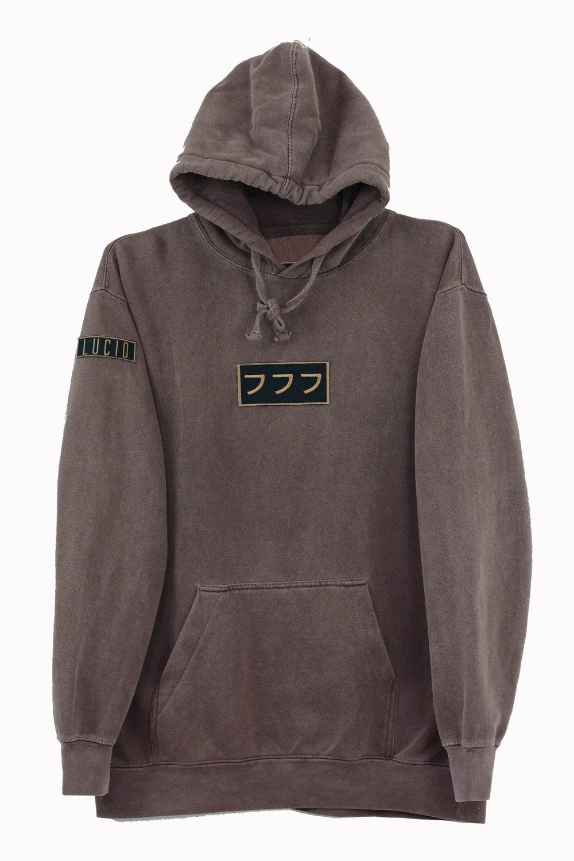 Image of lucid logo hoodie vol. II  [chocolate]