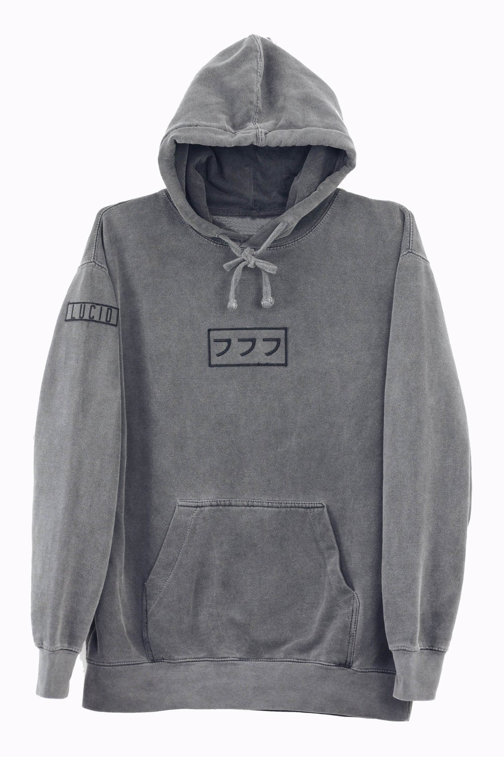 Image of lucid logo hoodie vol. II  [pepper]