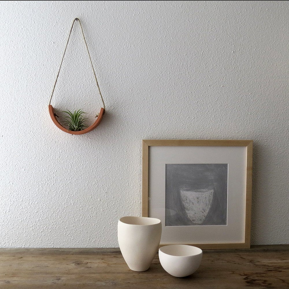 Image of Small Terracotta Hanging Air Plant Cradle