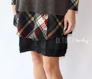 Image of Charcoal Plaid Long Top/Dress