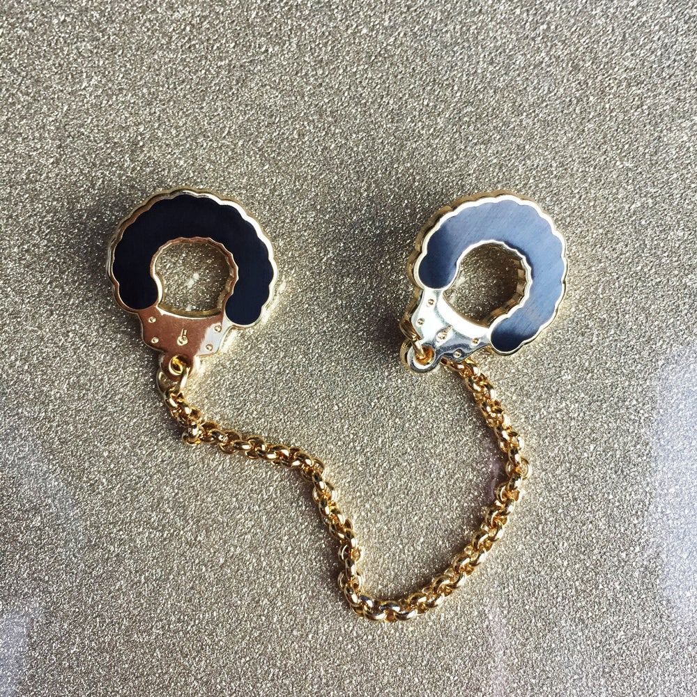 Image of Fuzzy Handcuff Collar Pins