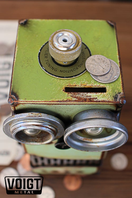 Image of Tuner Green Small Robot Bank