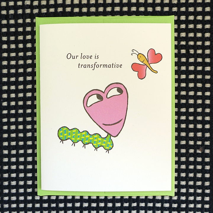 Image of CATERPILLAR GREETING CARD