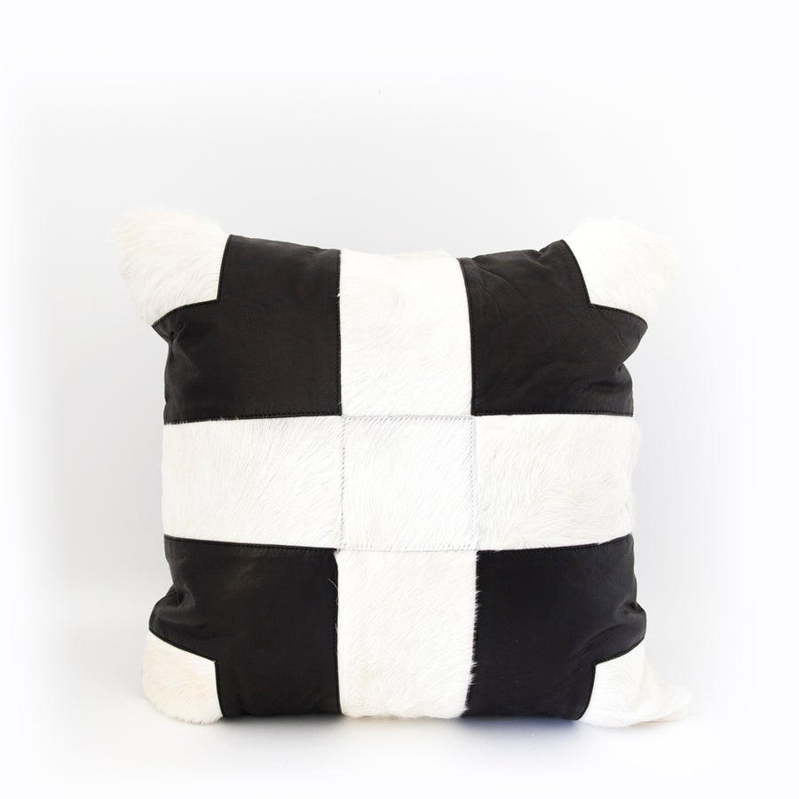Image of Cross Roads Black & White Cushion