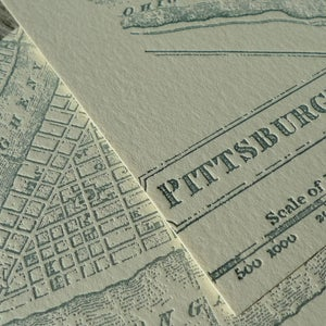 Image of Vintage Pittsburgh Map Coasters