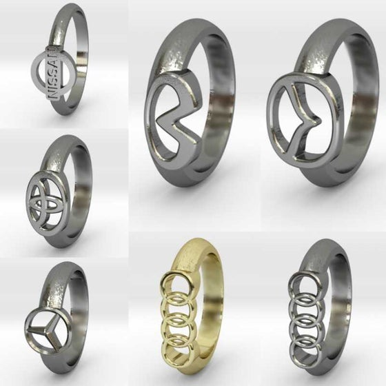 Image of Car Make/Model Logo Rings