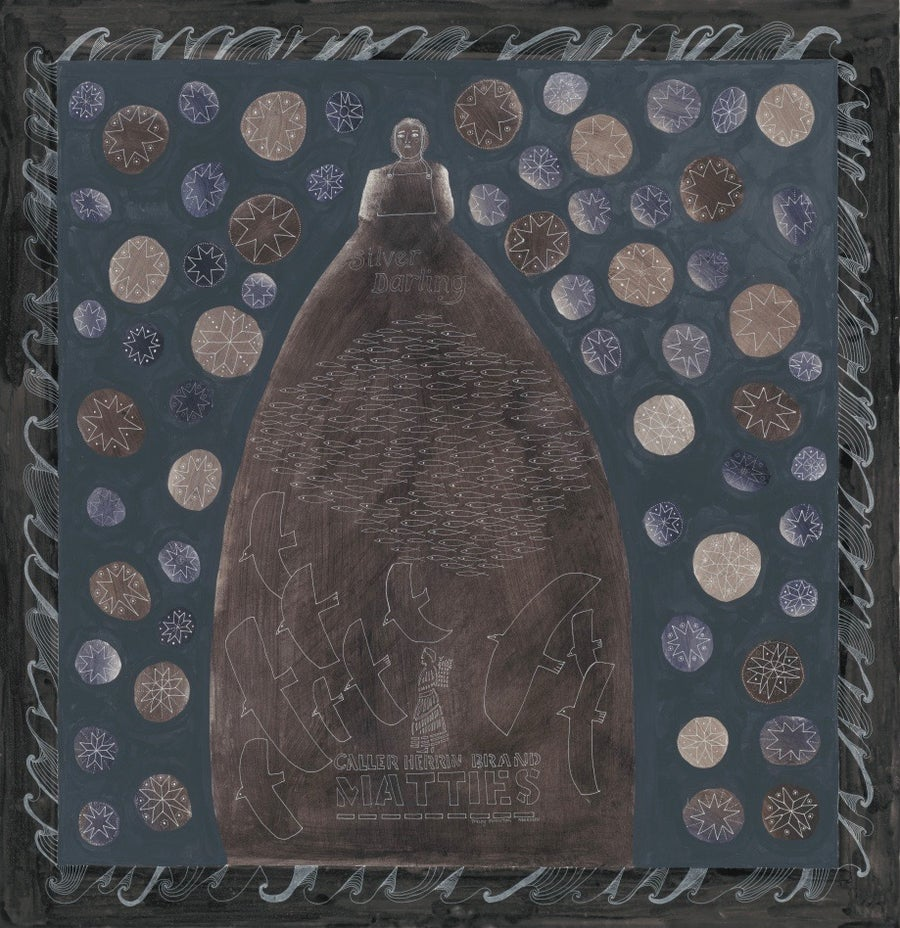 Image of Silver Darling Silk Satin Scarf