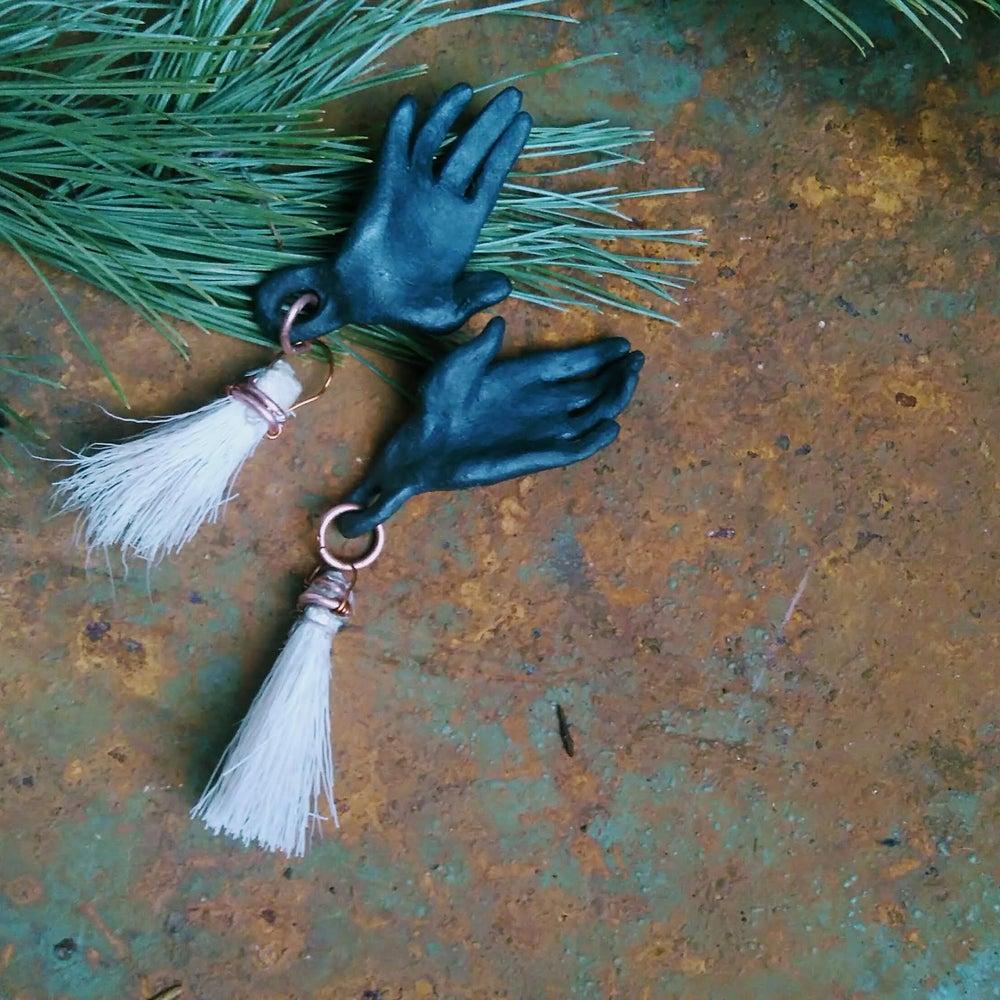Image of Manganese Black Stoneware Hand