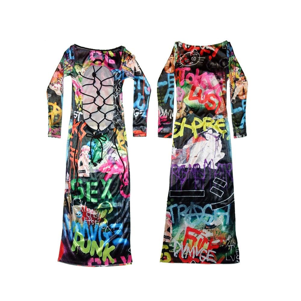 Image of DVMVGE TOKYO X' TYO X Shibari Velvet 2way Dress