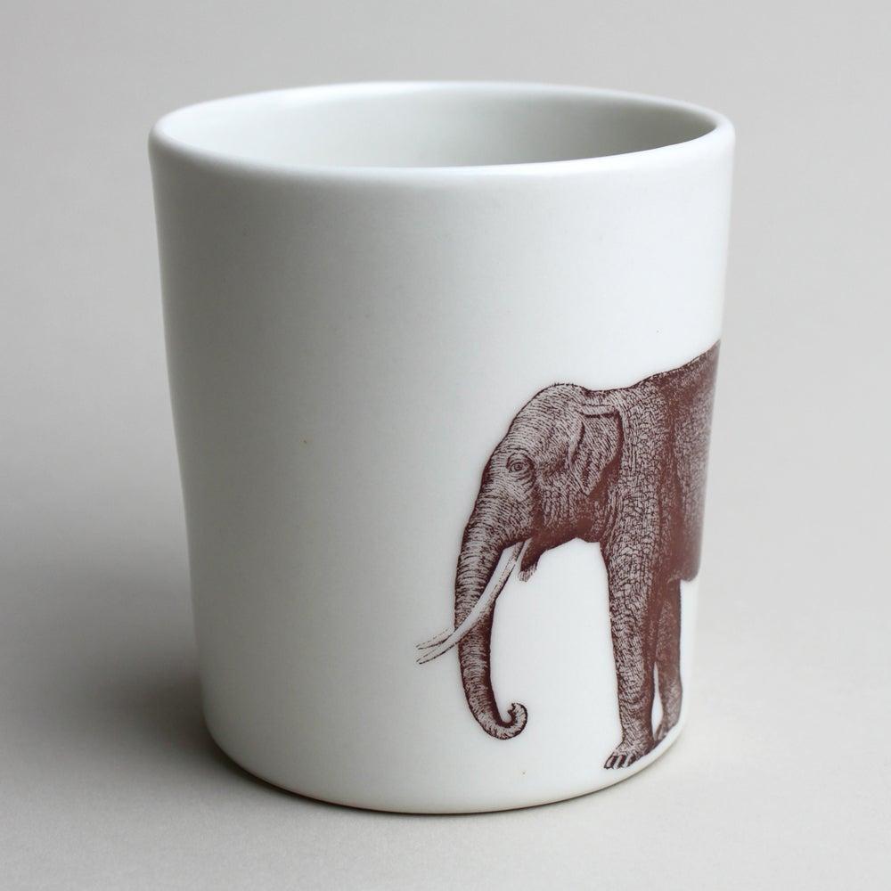 Image of 16oz tumbler with elephant, ivory