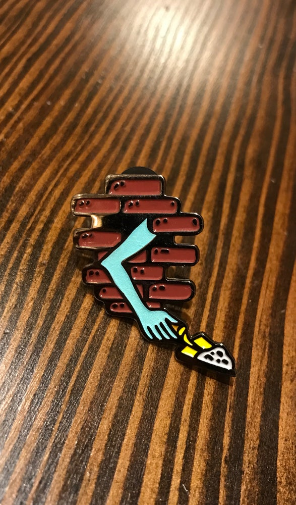 "Image of ""Leave me alone"" enamel pin"