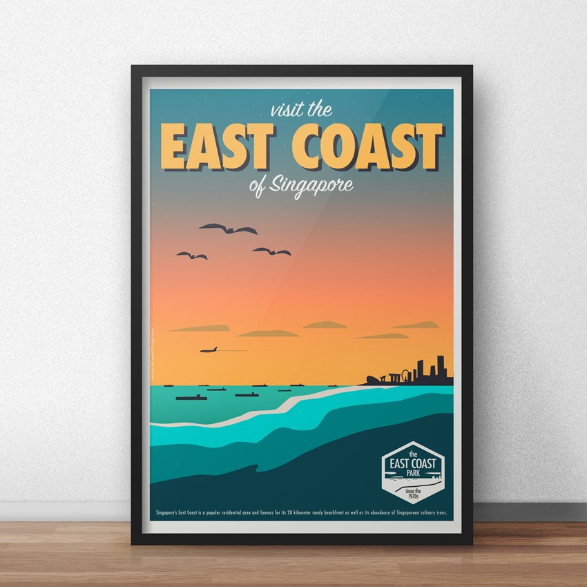 Eck Amp Art Designs East Coast Vintage Style Travel Poster