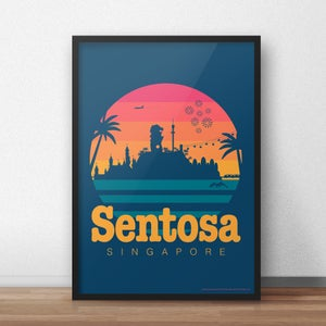 Image of Sentosa 80s-Style Travel Poster