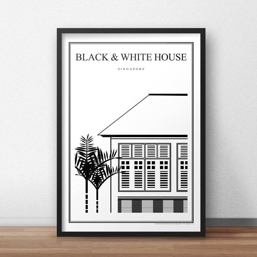 Image of Black & White House (Architectural Icon Series) (Fine Art Print)
