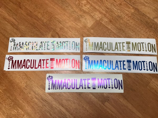 "Image of 3""x10"" Immaculate Motion Decals"