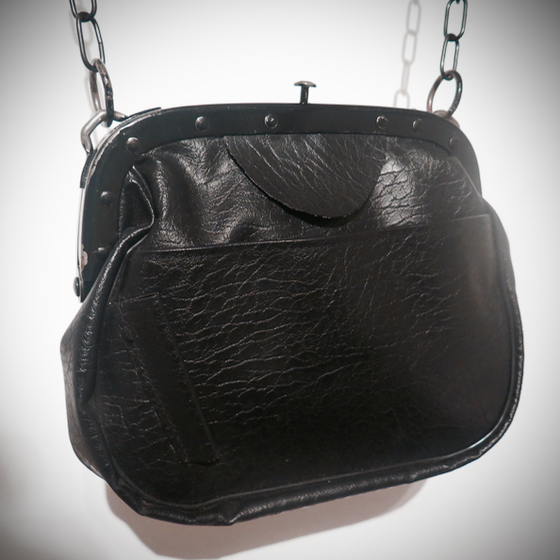 Image of Vintage PU Leather Bag from Berlin