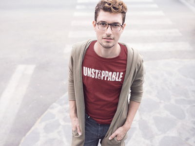 "Image of ""Unstoppable"" Do Christ Red Tee"