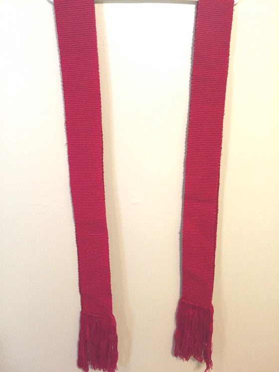Image of Red Woven Waist & Head Bands