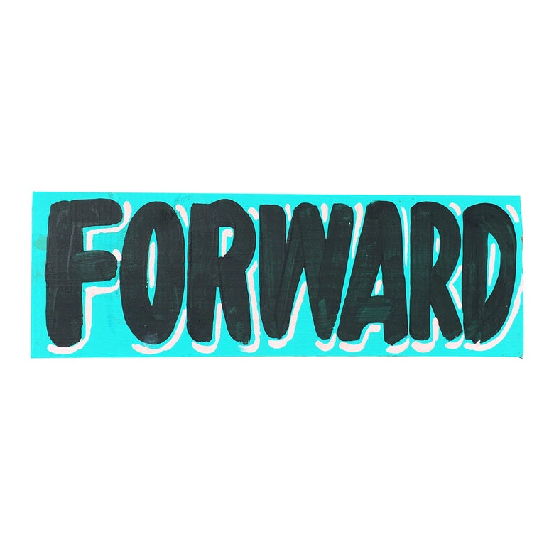 "Image of ""Forward"", Turquoise / Black by Nurse Signs"