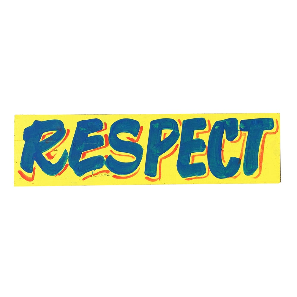 "Image of ""Respect"", Yellow / Blue by Nurse Signs"