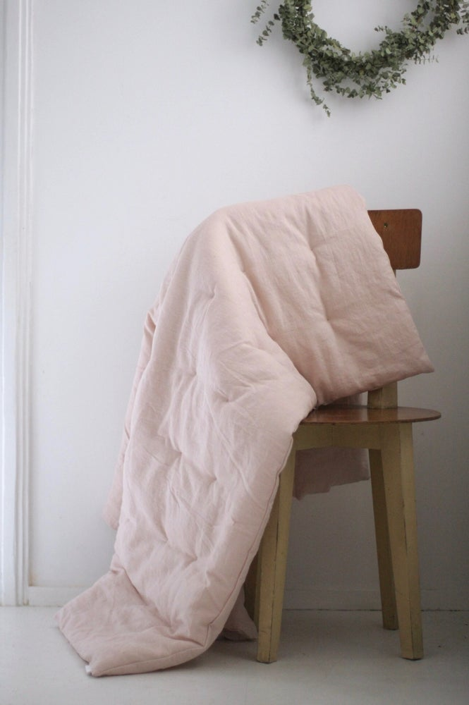 Image of linen quilt