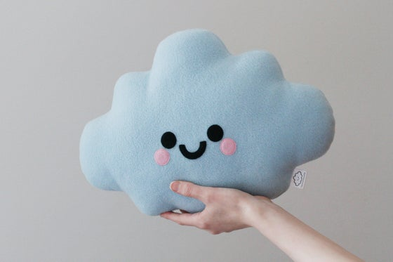 Image of Blue Cloud Cushion