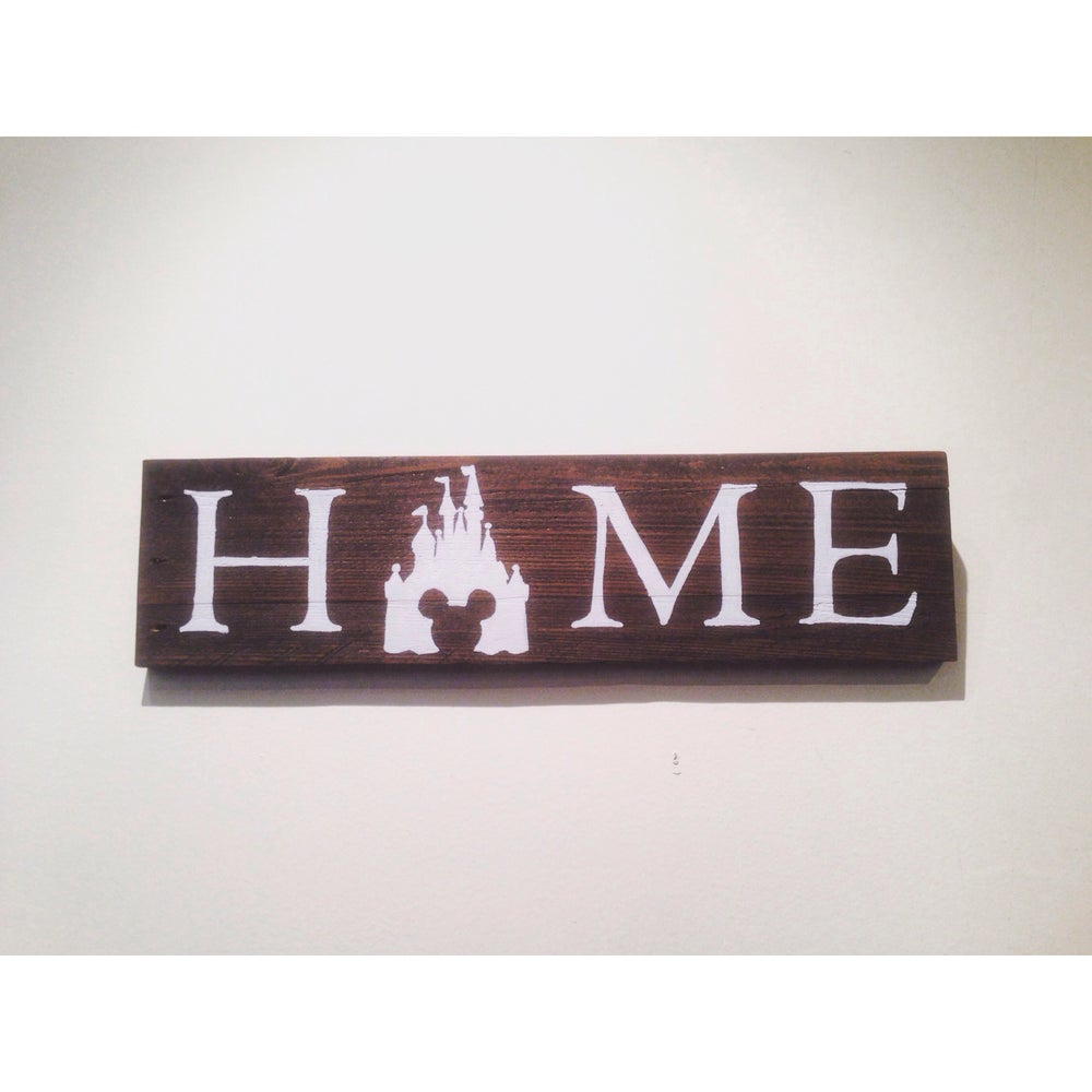 Image of Wooden Home Sign