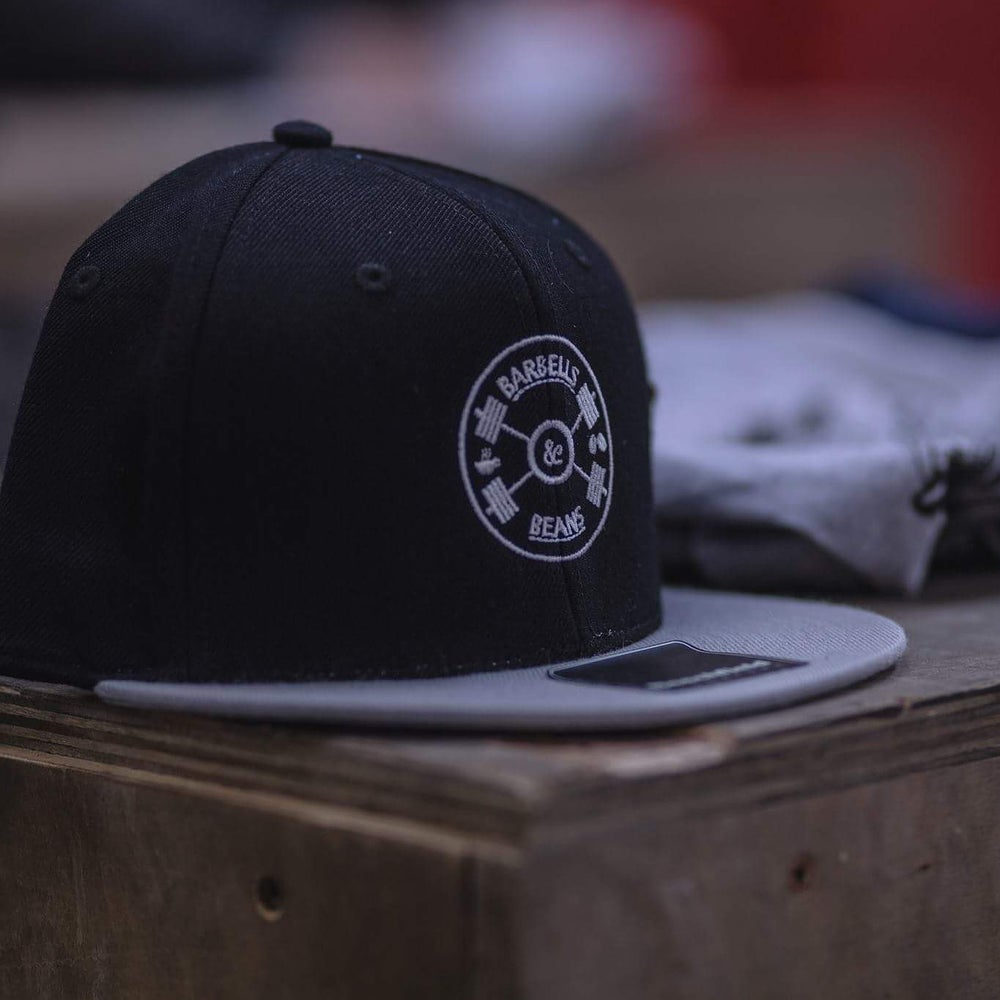 Image of Black and Grey Snapback Hat