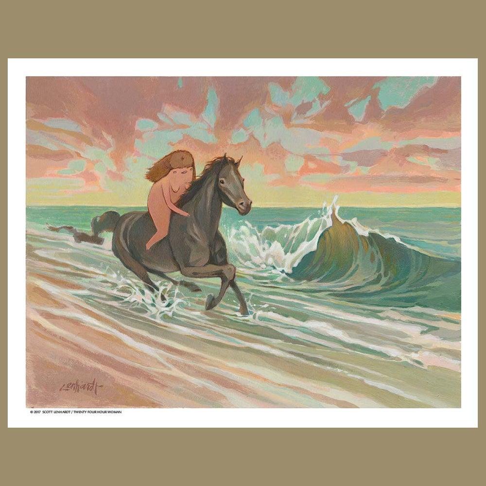 Image of Twenty Four Hour Woman Beach Horse Print