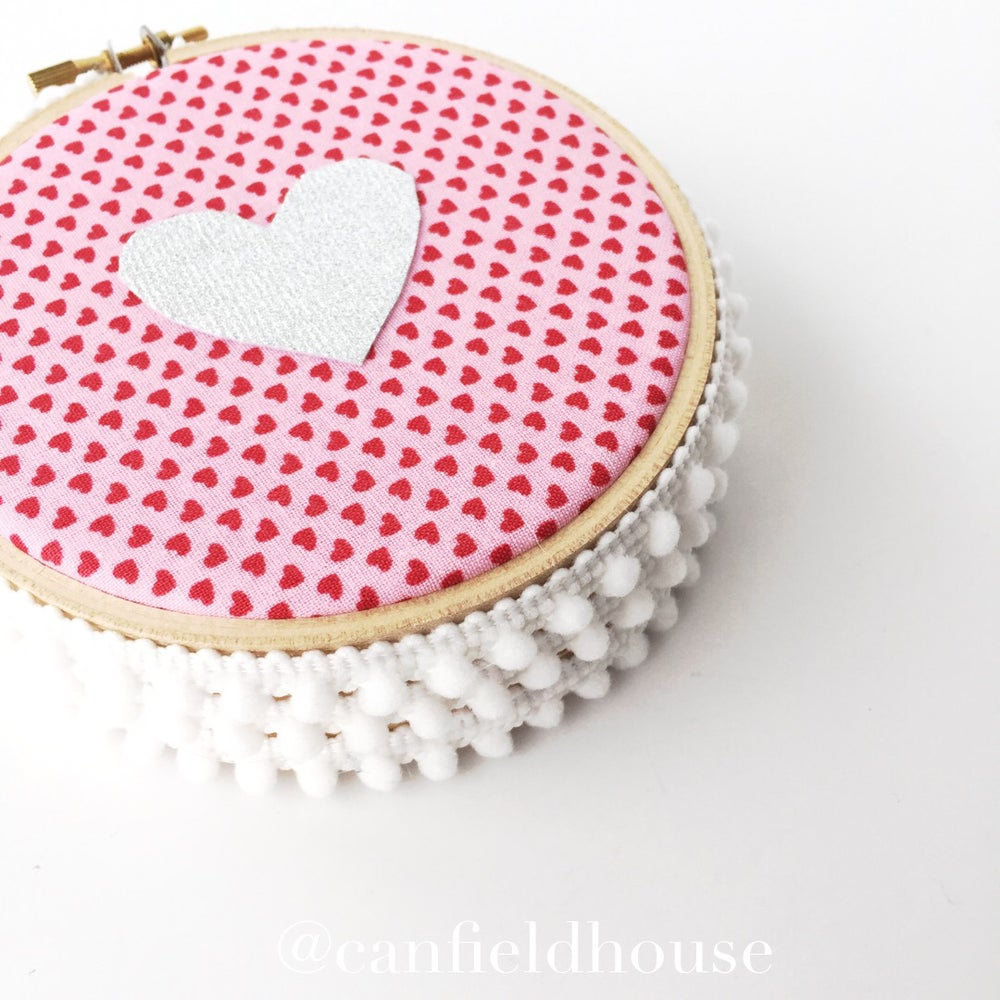 "Image of 4"" Mini Red & Pink Heart Hoop"