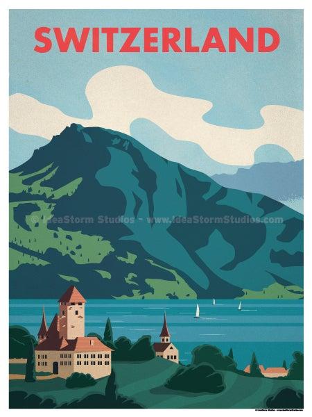 Ideastorm Studio Store Switzerland Lake Poster