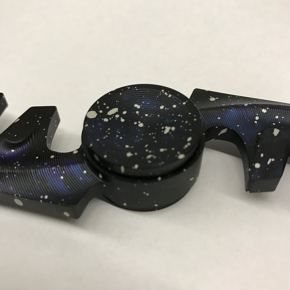 """Image of Aluminum """"Galaxy"""" Double """"F"""" Fidget Toy Spinner"""